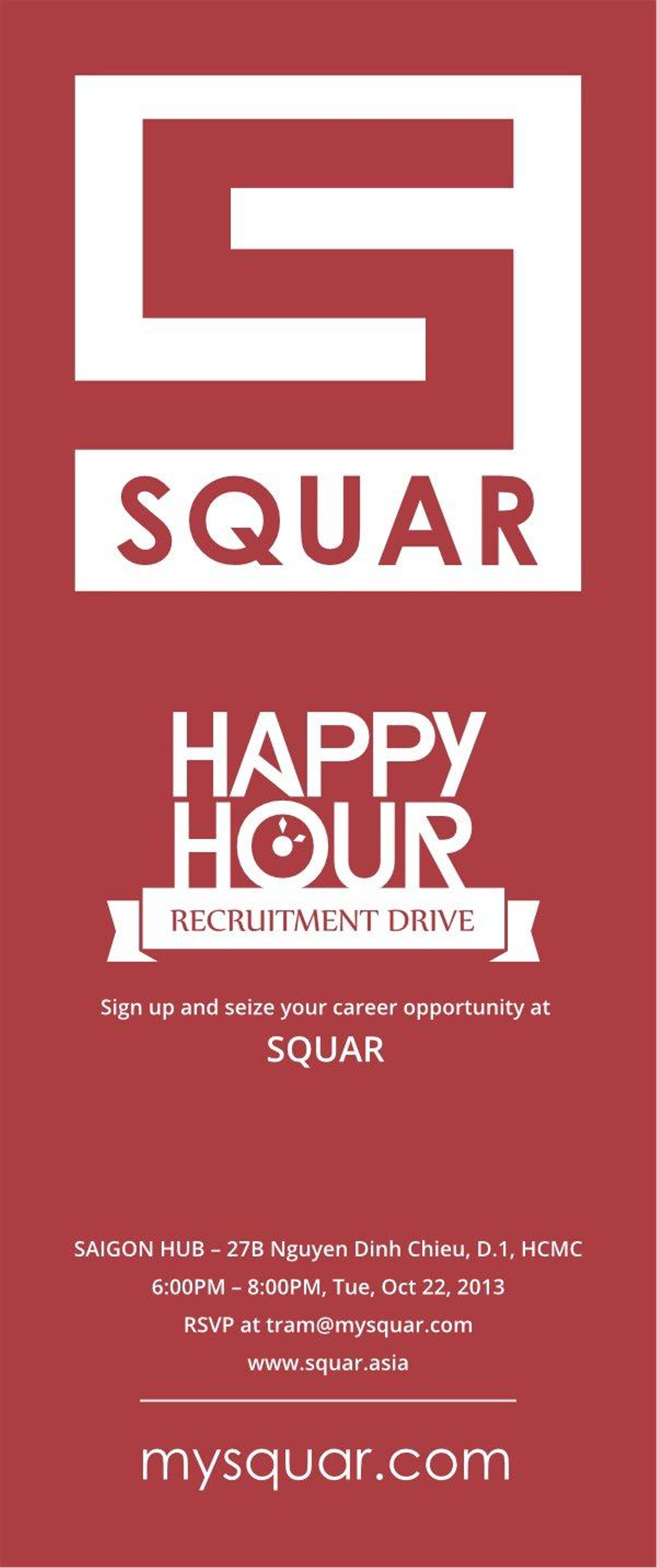 HAPPY HOUR with SQUAR | TicketBox | TicketBox vn